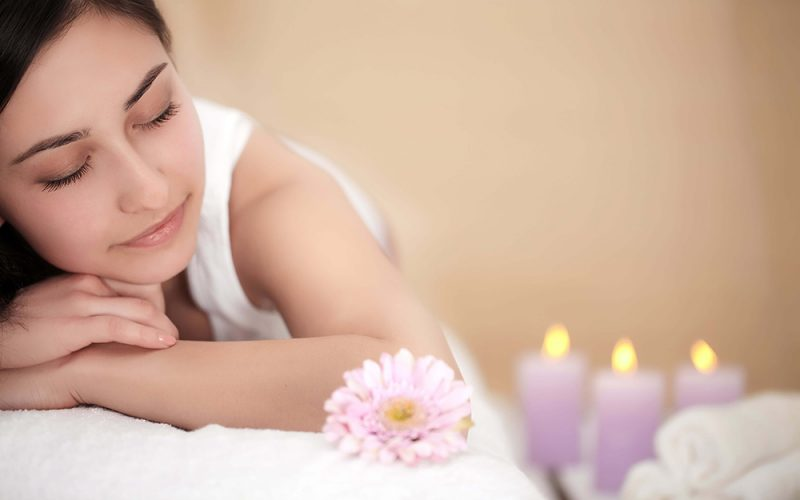 Soothing body massage pre-therapy where lady is relaxing